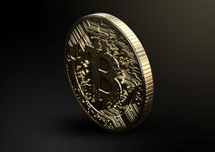 Bitcoin Physical Stock Illustration