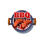 Stock Illustration of BBQ Sticker. Vector Illustration