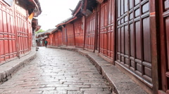 Lijiang old town streets in the morning, Yunnan province,China.  Stock Footage