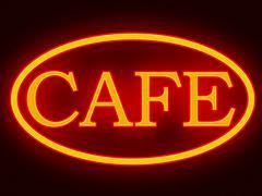 Cafe Neon Sign Illustration Stock Illustration
