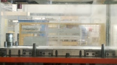 Robotics work in production line - stock footage