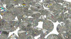 Stock Illustration of Large Diamonds and gemstones isolated white