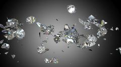 Stock Illustration of Shattered and cracked diamond or gemstones