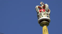 4K Royal crown symbol British landmark London United Kingdom Great Britain day   Stock Footage