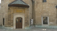 View of tow tombs located within Gazi Husrev-Beg Mosque, Sarajevo Stock Footage