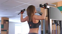 Womens workout. Pull-UPS Stock Footage