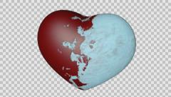 3D Heart The Transformation from Ice to Heat - stock footage