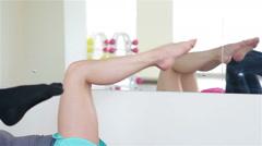 Power Pilates & Yoga Classes Stock Footage
