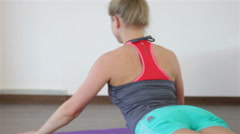 Power Pilates & Yoga Classes Stock Footage
