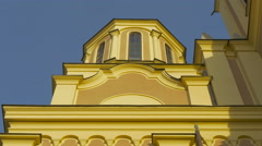 A tower of the Serbian Orthodox Cathedral in Sarajevo Stock Footage