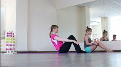 Power Pilates & Yoga Classes. Legs raises Stock Footage