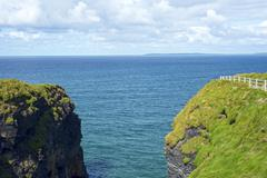Cliff walk view on the beautiful wild atlantic way Stock Photos