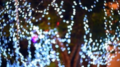 Blurred blinking holiday lights Stock Footage
