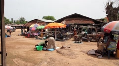 africa village market place - stock footage