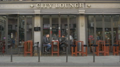 Relaxing at City Lounge Cafe, on Zelenih beretki street, Sarajevo Stock Footage