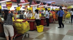 Maximark big supermarket interrior in Nha Trang city Stock Footage
