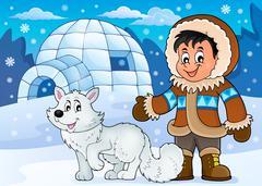 Arctic theme image - eps10 vector illustration. - stock illustration