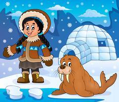 Stock Illustration of Arctic theme image - eps10 vector illustration.