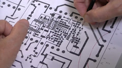 Engineer checks project of the PCB Stock Footage