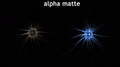 Brain impulses. Neuron system. Human anatomy. Alpha matte - stock footage