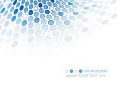 Business vector background with circle pattern. Folder, banner or cover desig Stock Illustration