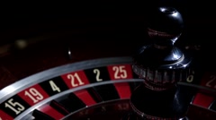 Roulette wheel in stop with running white ball Stock Footage