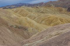 Zabriskie point in Death Valley National Park Stock Photos