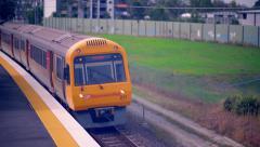 Carseldine Train Station Brisbane Queensland Australia 2016 - 4K Resolution Stock Footage