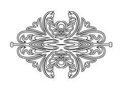 Vintage floral frame. Element for design - stock illustration