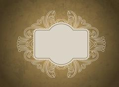 Vintage floral frame. Element for design Stock Illustration