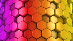 Abstract Background of Colored Honeycombs Stock Footage