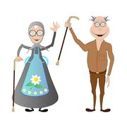 Happy retirement - stock illustration