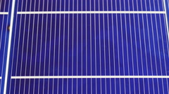 Solar panel cell elements components, detail view, sliding video Stock Footage
