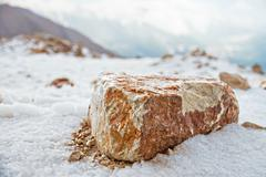Big stone on the Hill - stock photo