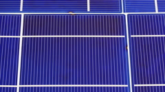 Solar panel cell elements components, detail view background Stock Footage