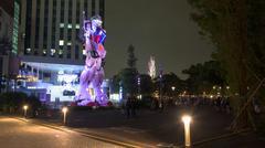 Stock Photo of people visit Gundam at DiverCity, Tokyo