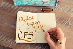 Business acronym CFS CRITICAL SUCCESS FACTOR Stock Photos