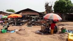 village market - stock footage