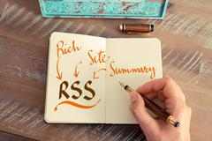 Business acronym RSS RICH SITE SUMMARY - stock photo