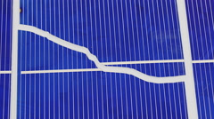 Broken solar panel cell parts rotating, loop ready Stock Footage