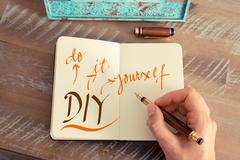 Business acronym DIY DO IT YOURSELF - stock photo