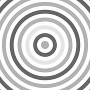 Black and White Abstract Modern Concentric Circles Stock Illustration