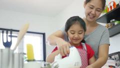 Happy family moment at home, Slow motion Stock Footage
