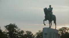 Statue of Marshal Ferdinand Foch in Paris, France Stock Footage