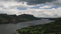 Pan Studen Kladenets water reservoir form above Stock Footage