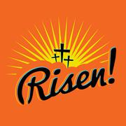 Risen Christian Easter Text Illustration Stock Illustration