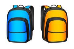 backpack - stock illustration