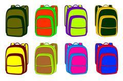 sport backpack - stock illustration