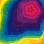 Stock Illustration of Pattern with spectrum colors and small stars