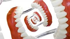 Droste Denture Model Zoom Stock Footage
